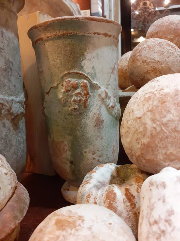 poterie ampholia brique à vin verte