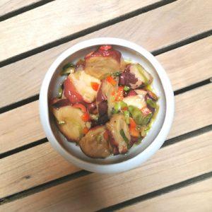 salade de poulpe aux herbes